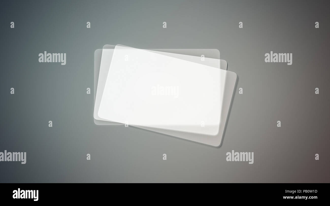 Blank Plastic Transparent Business Cards Stack Mock Up 3d Rendering Clear Pvc Namecard Mockup With Rounded Corners Empty Acrylic Horizontal Custome