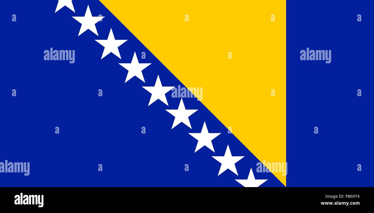 Flag of Bosnia and Herzegovina. Symbol of Independence Day, souvenir sport game, button language, icon. - Stock Vector