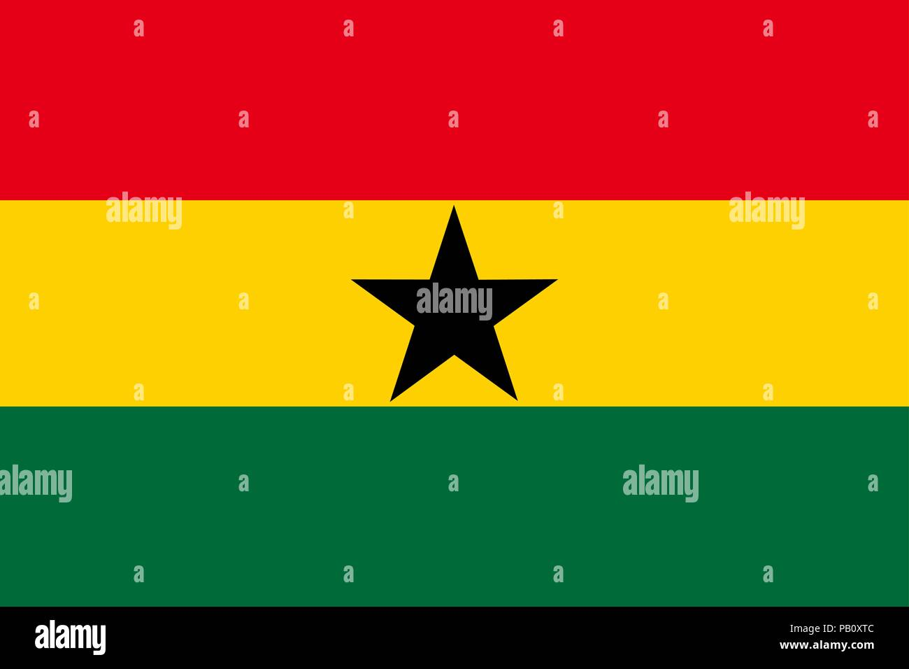 Flag of Ghana. Symbol of Independence Day, souvenir sport game, button language, icon. - Stock Vector