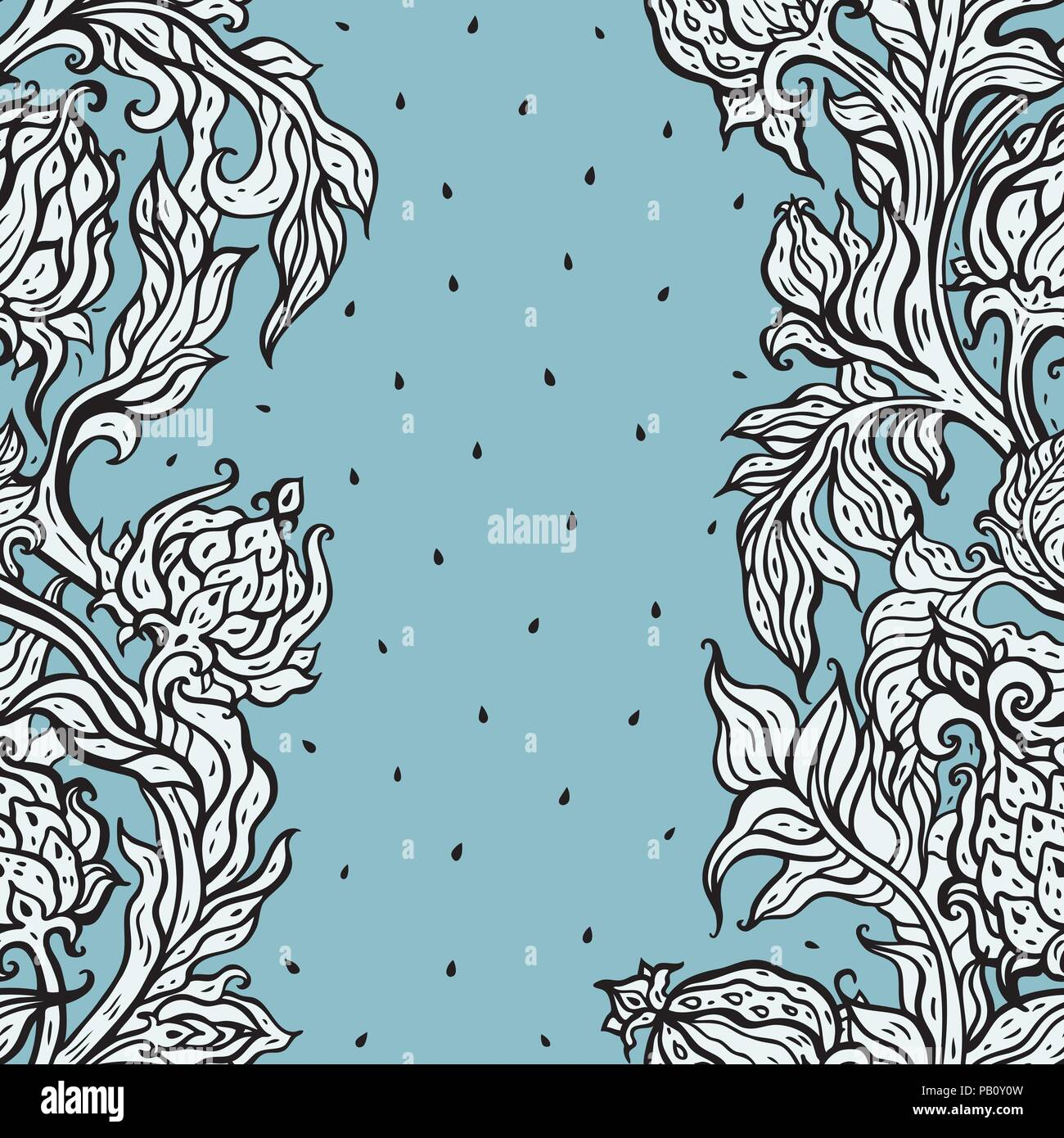 Vintage Floral Seamless Pattern With Hand Drawn Flowers Can Be