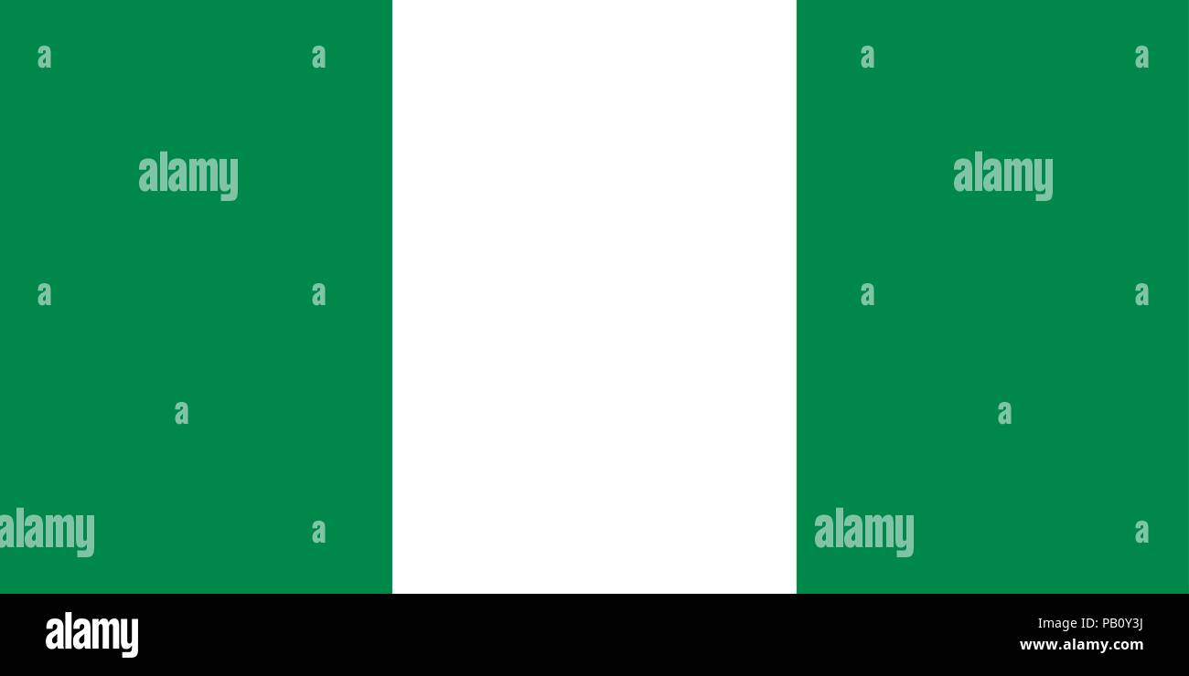 Flag of Nigeria. Symbol of Independence Day, souvenir soccer game, button language, icon. - Stock Vector