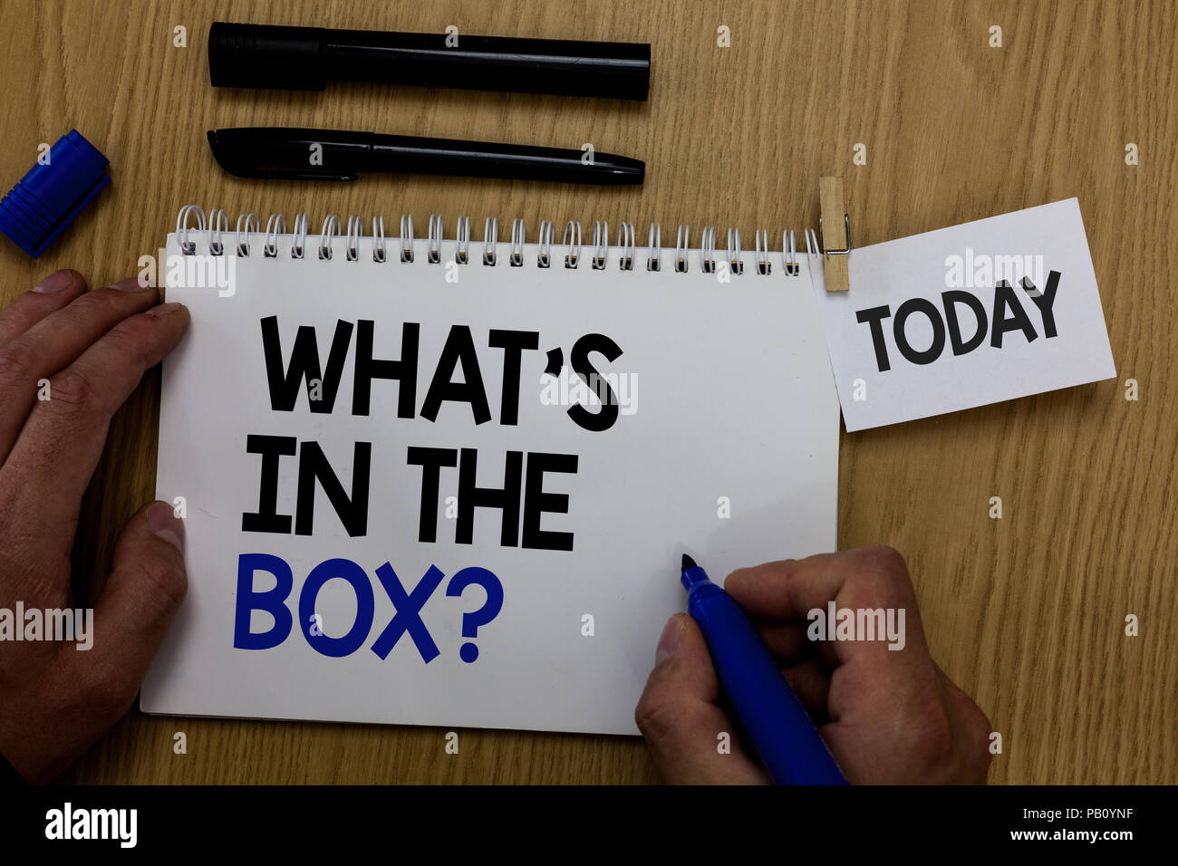 word writing text what s is in the box question business concept