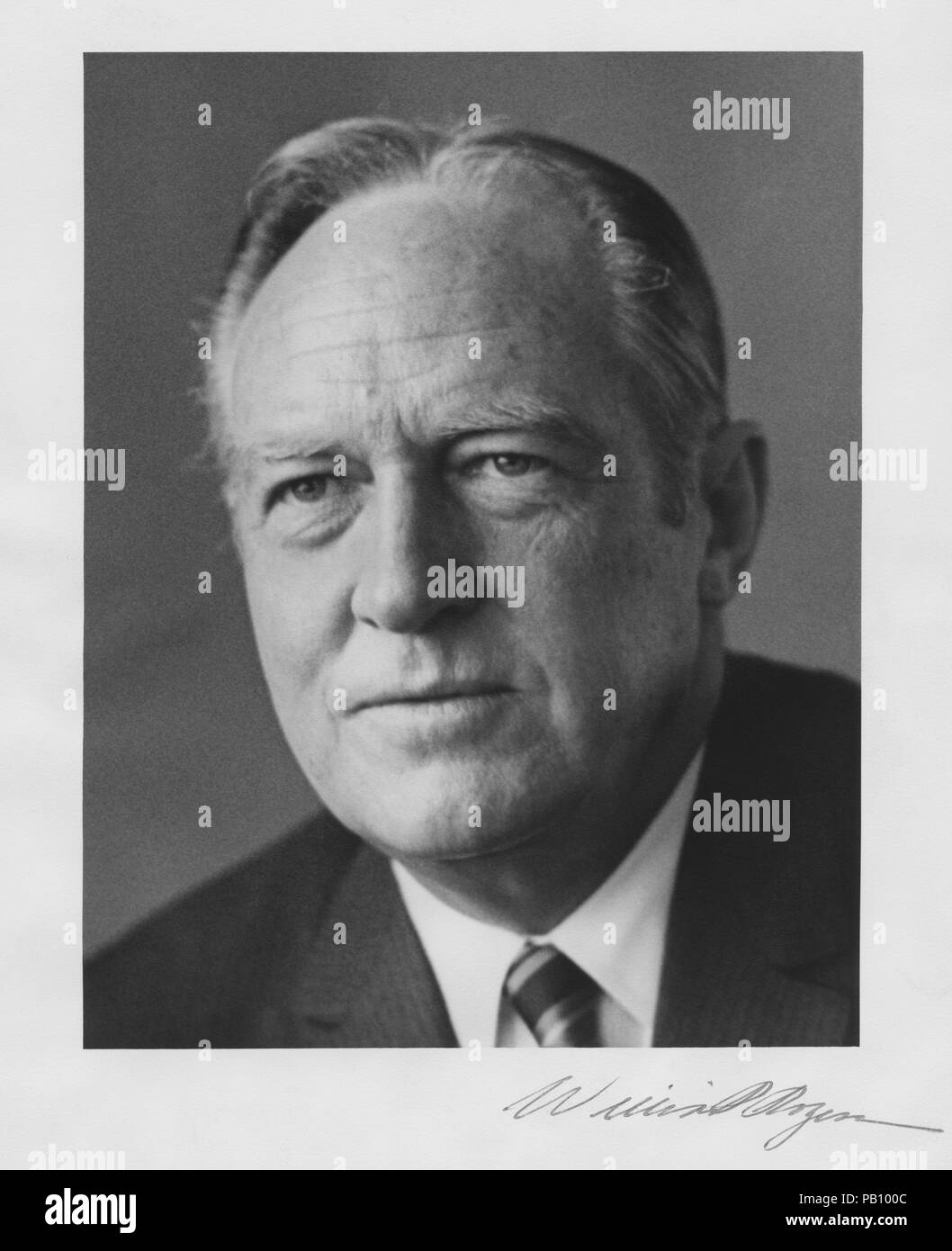 William P. Rogers, U.S. Secretary of State in Nixon Administration , Portrait, 1972 - Stock Image