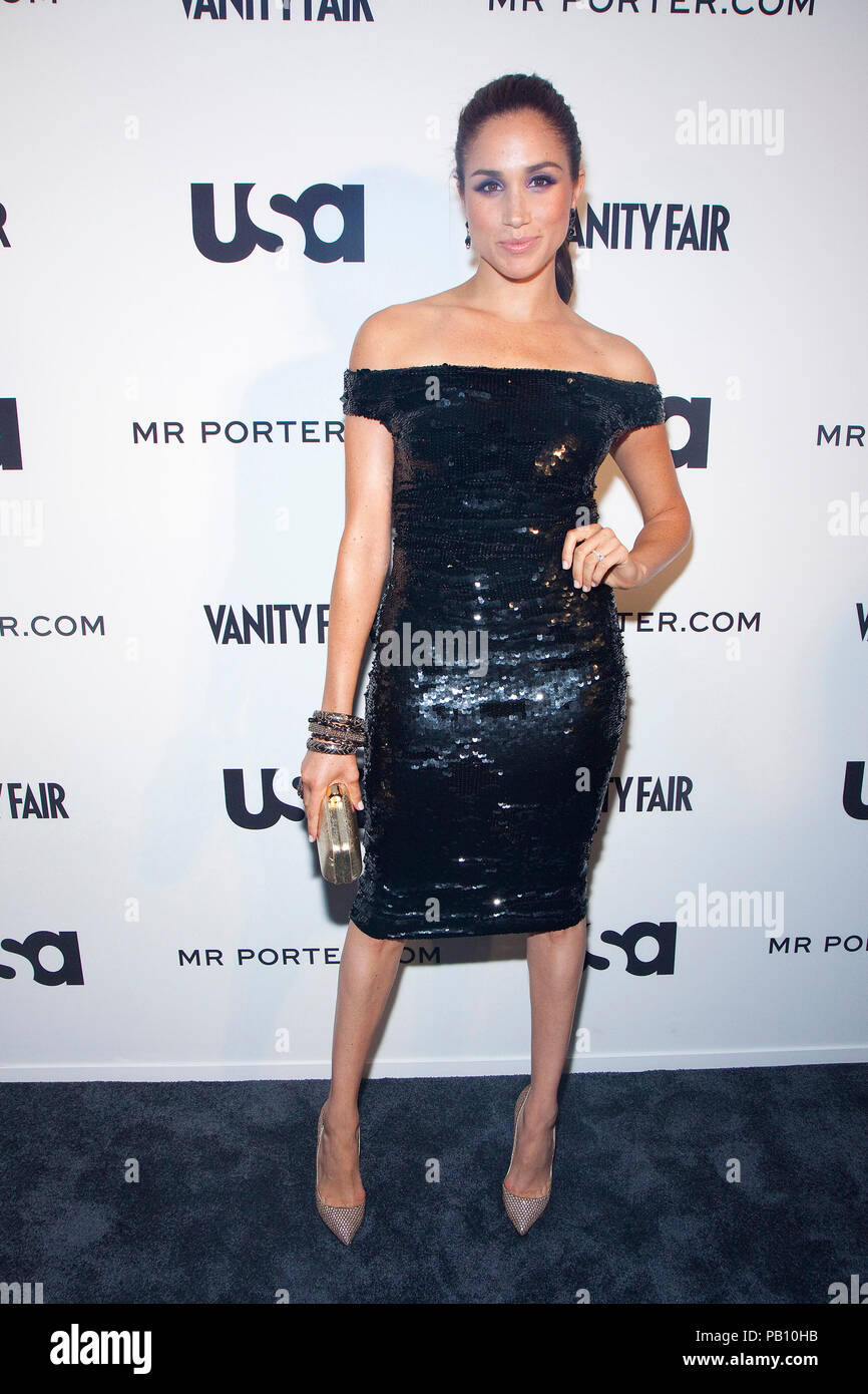 """Meghan Markle at the USA Network and Mr. Porter Presents """"A SUITS STORY"""" event at NYC's High Line in New York City. Stock Photo"""