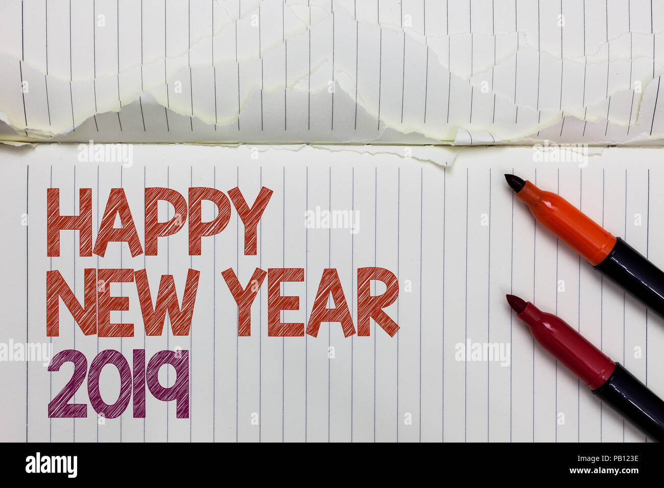 Text Sign Showing Happy New Year 2019 Conceptual Photo Greeting