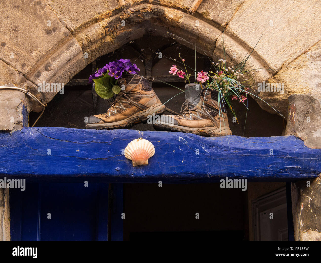 """""""Gite"""" on Way of St. James,  Figeac, Lot department, Occitanie, France, Western Europe Stock Photo"""