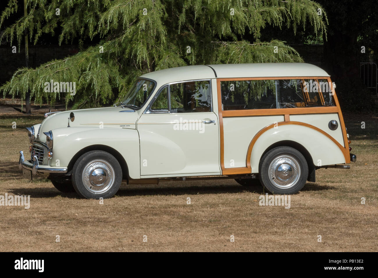 morris minor traveller vintage or collectors motor car. - Stock Image