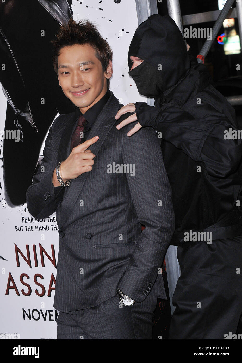 Rain Raizo   - NINJA ASSASSIN Premiere at GraumanÕs Chinese Theatre In Los Angeles.01_Rain Raizo_01 Red Carpet Event, Vertical, USA, Film Industry, Celebrities,  Photography, Bestof, Arts Culture and Entertainment, Topix Celebrities fashion /  Vertical, Best of, Event in Hollywood Life - California,  Red Carpet and backstage, USA, Film Industry, Celebrities,  movie celebrities, TV celebrities, Music celebrities, Photography, Bestof, Arts Culture and Entertainment,  Topix, vertical, one person,, from the years , 2006 to 2009, inquiry tsuni@Gamma-USA.com - Three Quarters - Stock Image