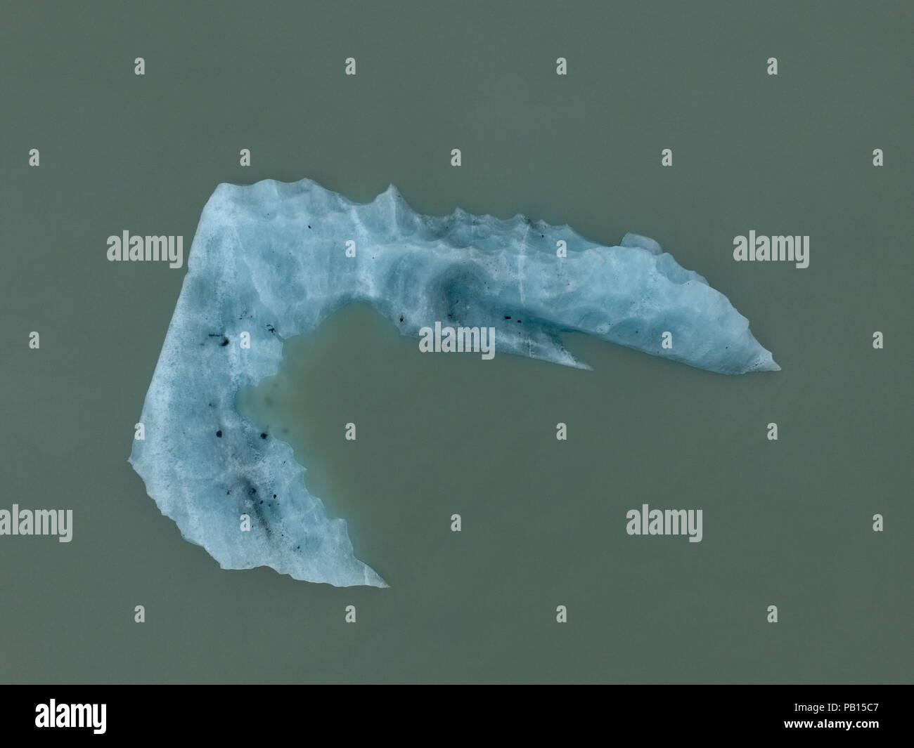 Fragmento de hielo. Glaciar Grosse. Carretera Austral, Patagonia, Chile - Stock Image