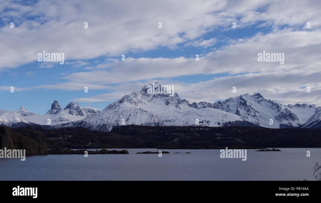 Cerro Castillo Patagonia carretera austral chile - Stock Image