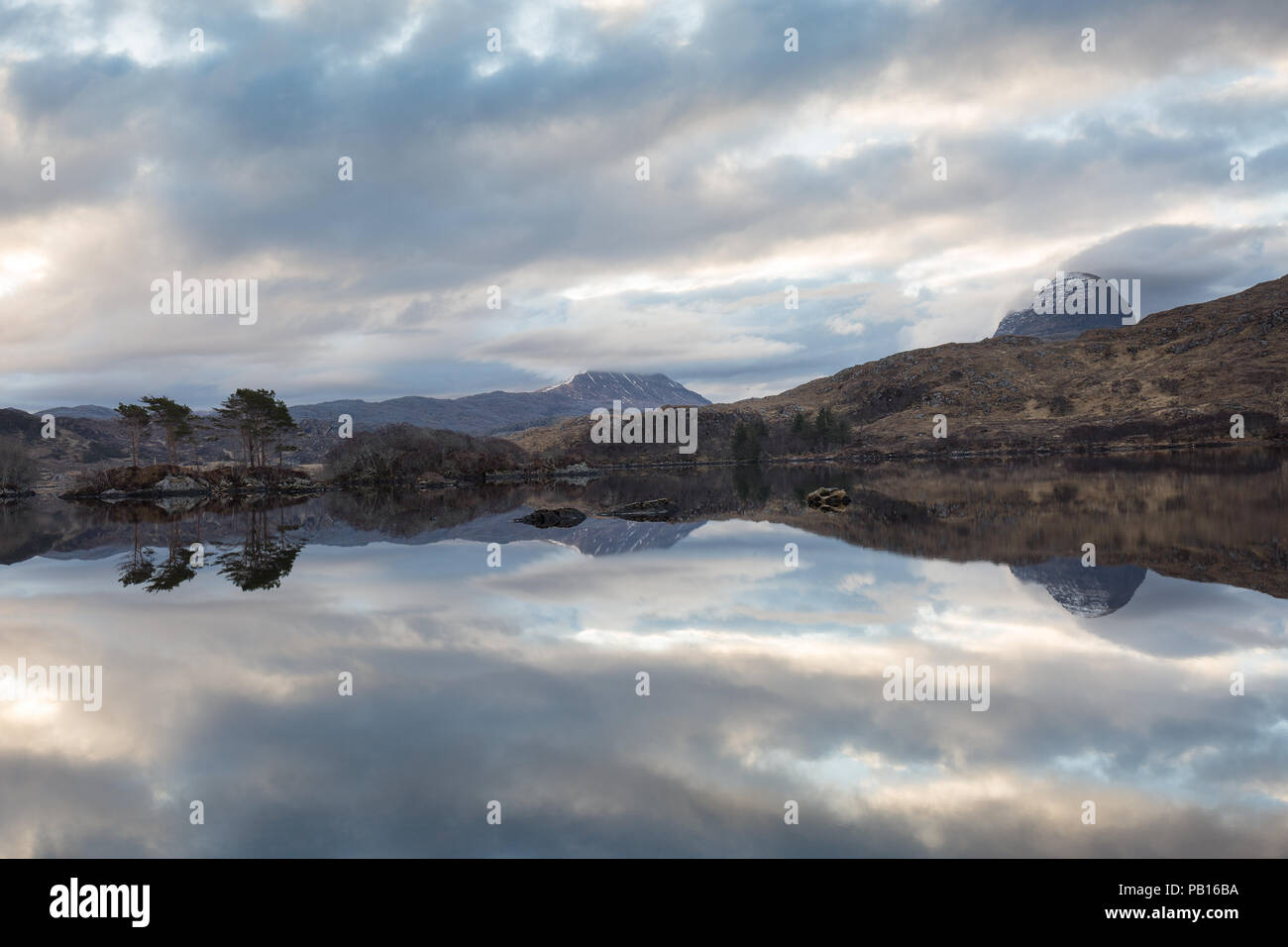 Suilven and Cansip Dawn - Stock Image