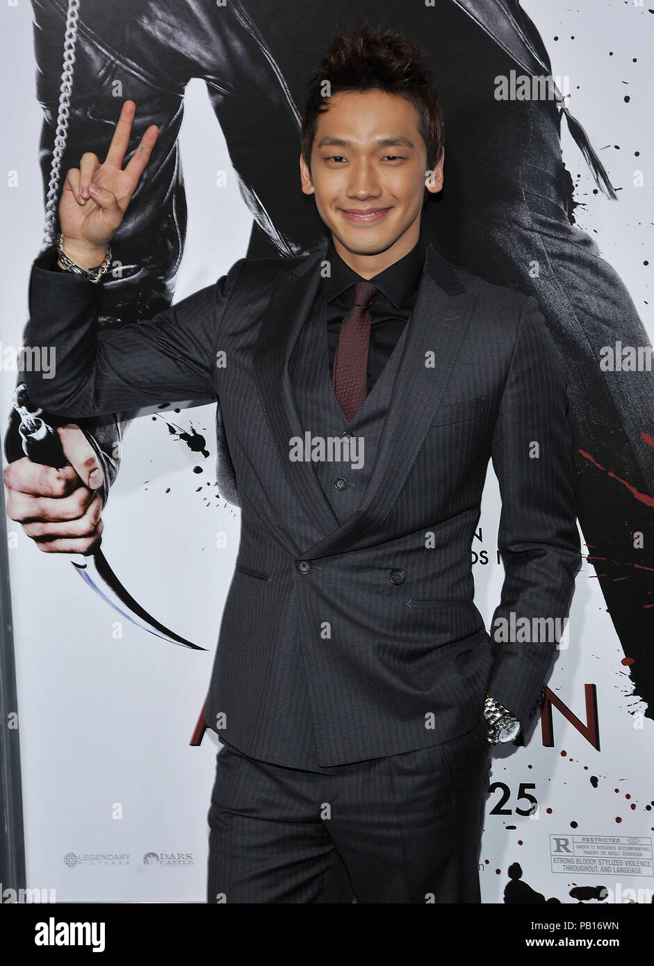 Rain Raizo   - NINJA ASSASSIN Premiere at GraumanÕs Chinese Theatre In Los Angeles.08_Rain Raizo_08 Red Carpet Event, Vertical, USA, Film Industry, Celebrities,  Photography, Bestof, Arts Culture and Entertainment, Topix Celebrities fashion /  Vertical, Best of, Event in Hollywood Life - California,  Red Carpet and backstage, USA, Film Industry, Celebrities,  movie celebrities, TV celebrities, Music celebrities, Photography, Bestof, Arts Culture and Entertainment,  Topix, vertical, one person,, from the years , 2006 to 2009, inquiry tsuni@Gamma-USA.com - Three Quarters - Stock Image