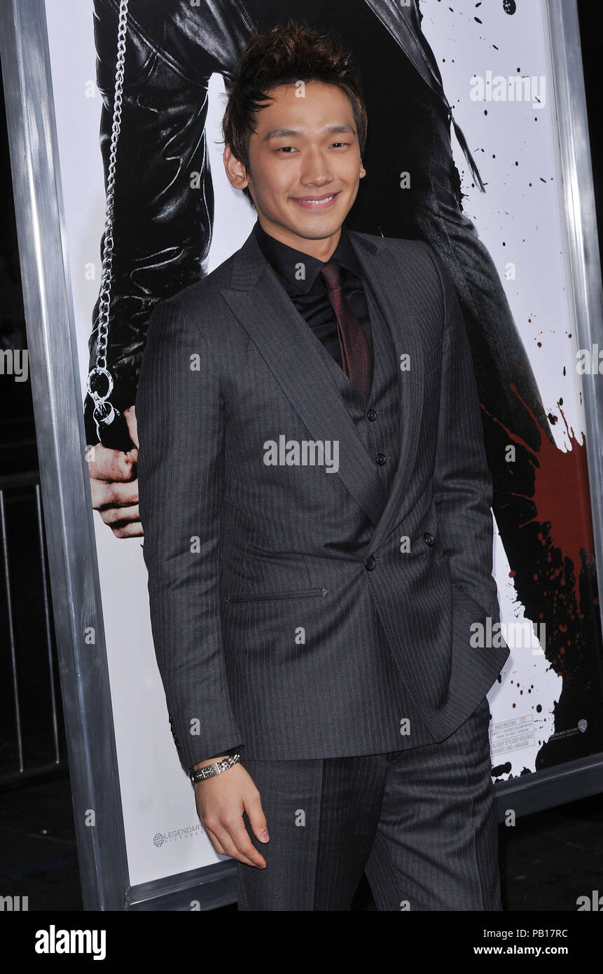 Rain Raizo   - NINJA ASSASSIN Premiere at GraumanÕs Chinese Theatre In Los Angeles.11_Rain Raizo_11 Red Carpet Event, Vertical, USA, Film Industry, Celebrities,  Photography, Bestof, Arts Culture and Entertainment, Topix Celebrities fashion /  Vertical, Best of, Event in Hollywood Life - California,  Red Carpet and backstage, USA, Film Industry, Celebrities,  movie celebrities, TV celebrities, Music celebrities, Photography, Bestof, Arts Culture and Entertainment,  Topix, vertical, one person,, from the years , 2006 to 2009, inquiry tsuni@Gamma-USA.com - Three Quarters - Stock Image