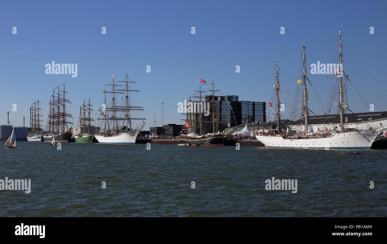 Tall ships Races 2018 in Esbjerg, Denmark - Stock Image