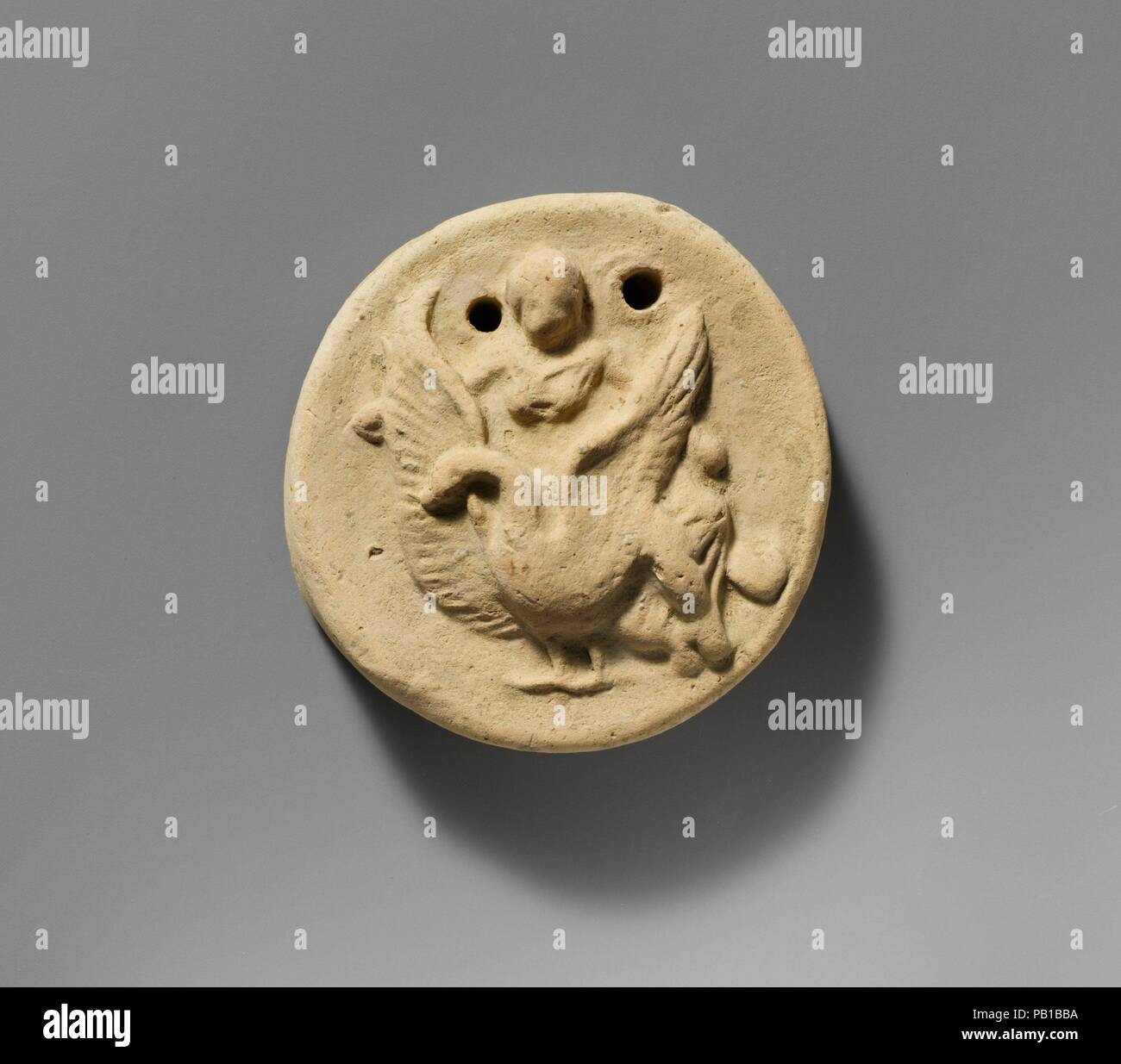 Terracotta Disk With Aphrodite Riding On A Swan Culture Greek