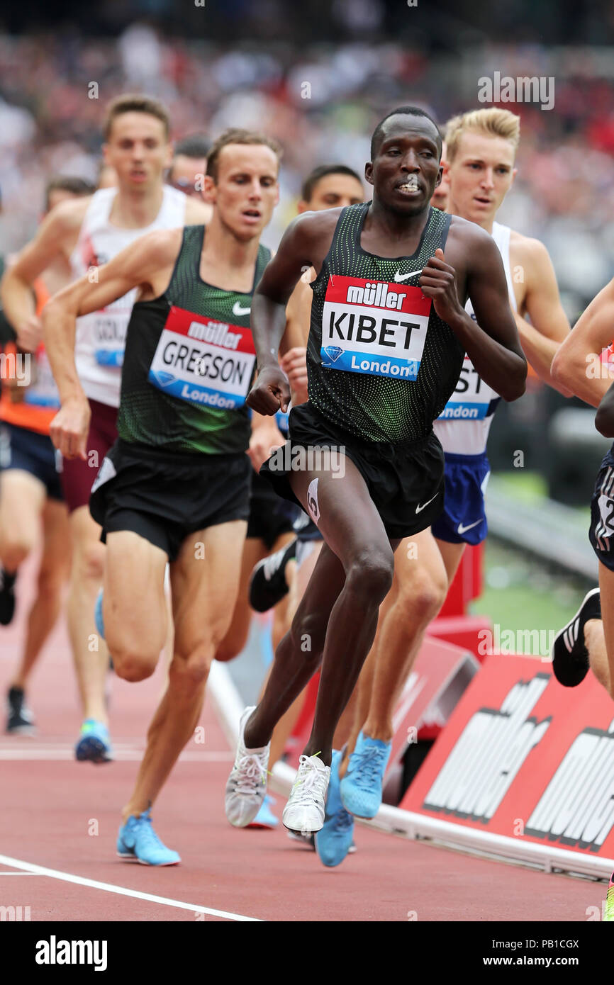 Vincent KIBET (Kenya) competing in the Men's 1500m Final at the 2018, IAAF Diamond League, Anniversary Games, Queen Elizabeth Olympic Park, Stratford, London, UK. - Stock Image