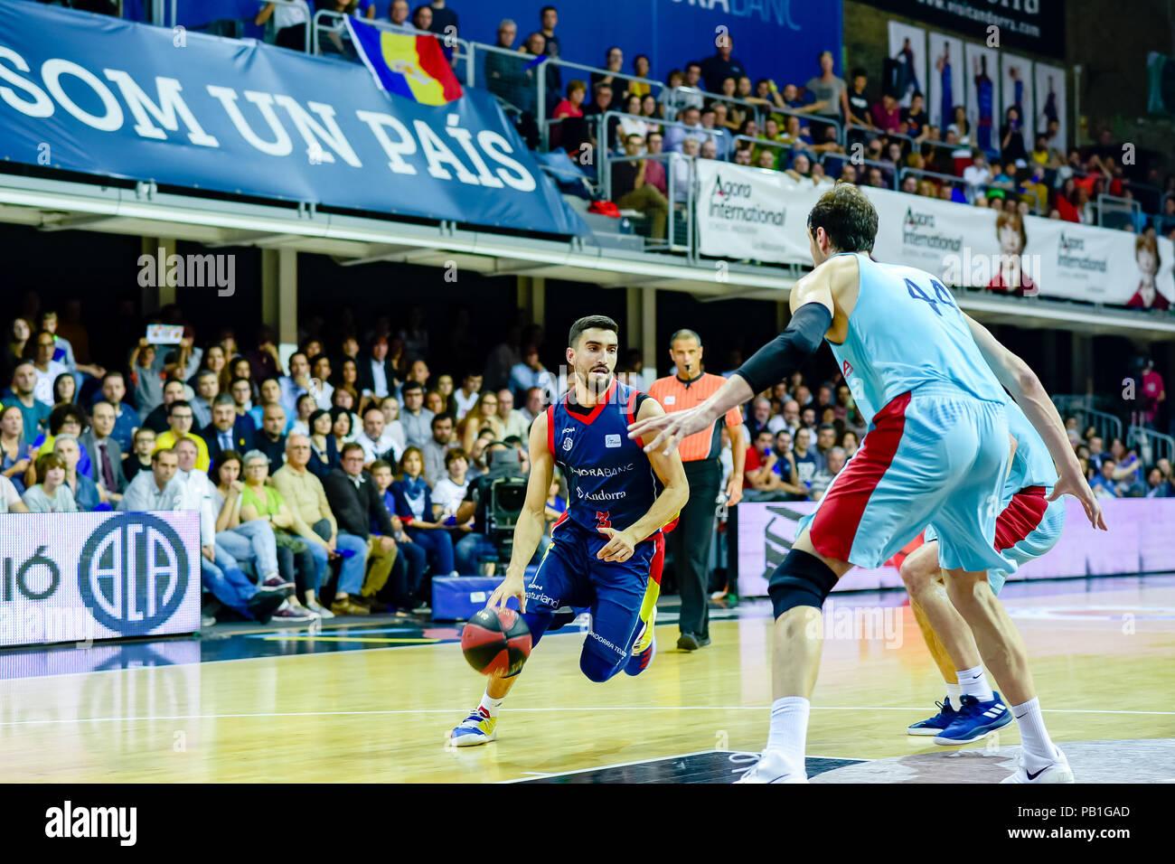 Andorra la Vella, Andorra. 20 de enero de 2018. Liga Endesa ACB. En el partido entre Morabanc Andorra BC vs FC Barcelona Lassa  de la Liga Endesa ACB  - Stock Image