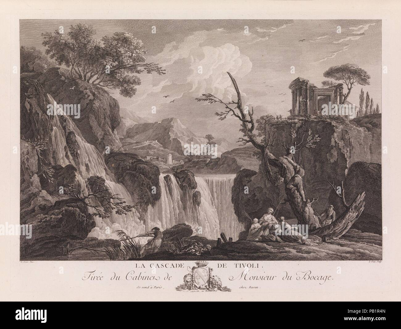Oeuvres de Joseph Vernet...representant divers ports de mer en France et d'Italie. Designer: Designed by Joseph Vernet (French, Avignon 1714-1789 Paris). Dimensions: Overall: 24 13/16 x 19 11/16 x 2 9/16 in. (63 x 50 x 6.5 cm). Engraver: Charles Nicolas Cochin II (French, Paris 1715-1790 Paris) ; (pls. 81-198); Jacques Philippe Le Bas (French, Paris 1707-1783 Paris) ; (pls. 8,9,11,13,69-70,71-72,81-108); Jacques Aliamet (French, Abbeville 1726-1788 Paris) ; (pls. 30,38,39,40,41,42,43,47); A. D. (French, active 18th century) ; (pls. 51,52); F. Basan ; (pls. 1,2); Peter Paul Benazech (British, c Stock Photo