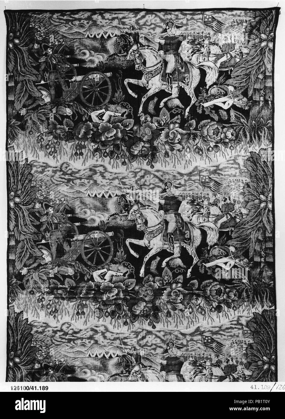 Piece. Culture: American. Dimensions: 52 3/4 x 24 1/4 in. (134 x 61.6 cm). Date: ca. 1846-48. Museum: Metropolitan Museum of Art, New York, USA. Stock Photo
