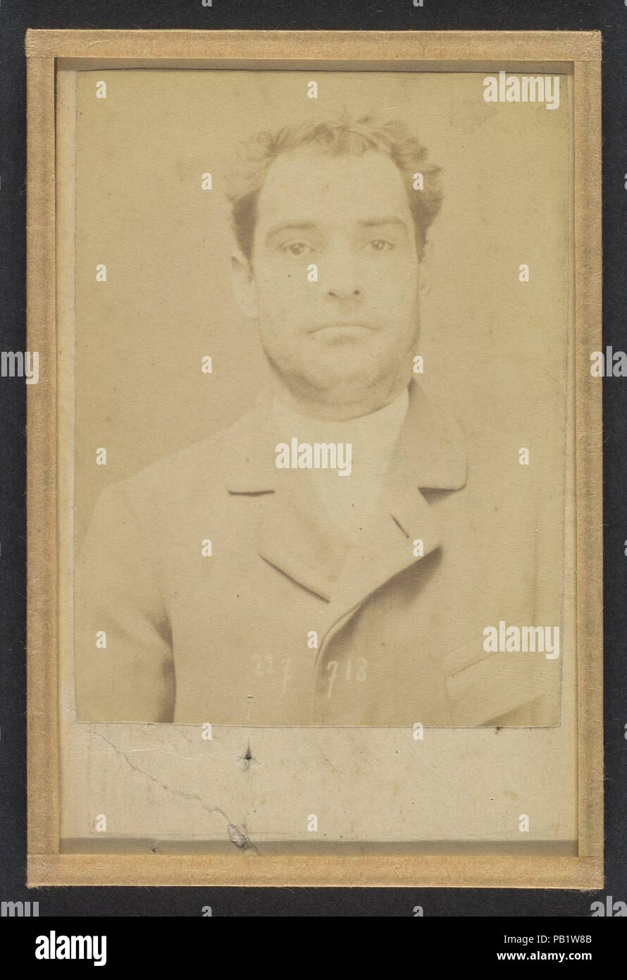 Dauriac. Henri, Georges. 36 ans, né à Memphis (USA). Agent d'affaires. Extortion de fonds. 22/12/94. Artist: Alphonse Bertillon (French, 1853-1914). Dimensions: 10.5 x 7 x 0.5 cm (4 1/8 x 2 3/4 x 3/16 in.) each. Date: 1894.  Born into a distinguished family of scientists and statisticians, Bertillon began his career as a clerk in the Identification Bureau of the Paris Prefecture of Police in 1879. Tasked with maintaining reliable police records of offenders, he developed the first modern system of criminal identification. The system, which became known as Bertillonage, had three components: an Stock Photo