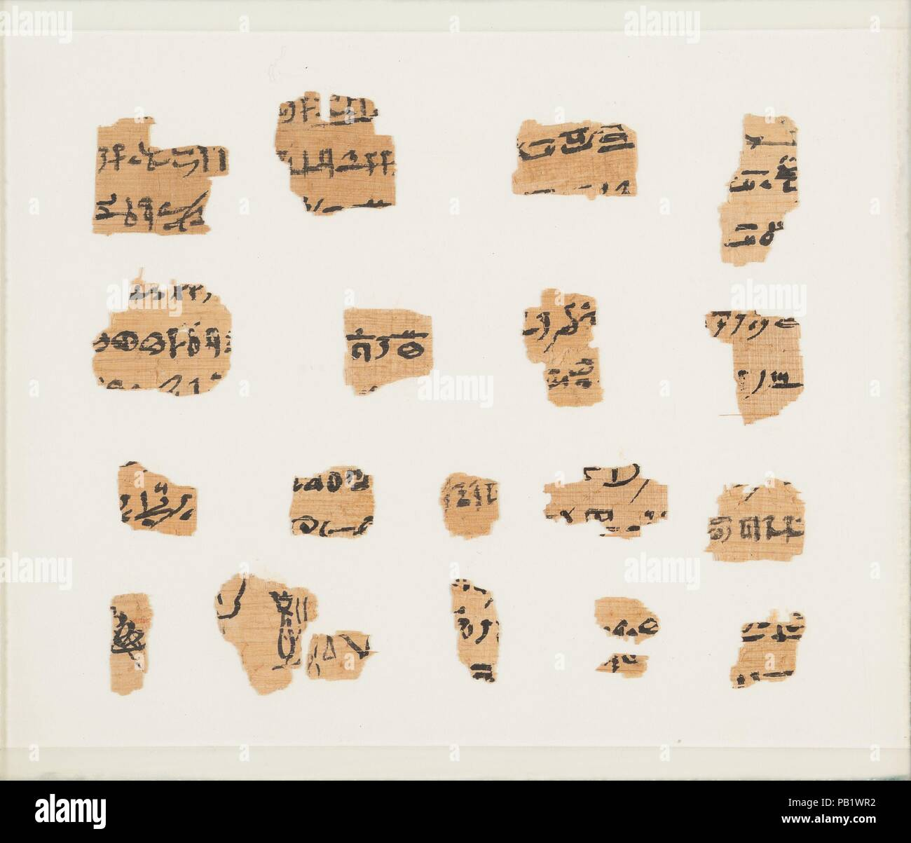 Papyrus fragments, Book of the Dead. Dimensions: Frame: H. 14.7 x W ...