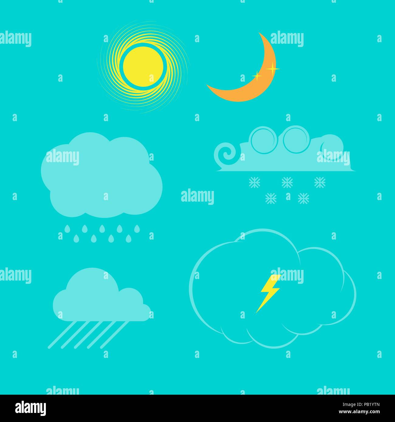 Weather Icon Set. Vector Design Elements Set for You Design - Stock Vector