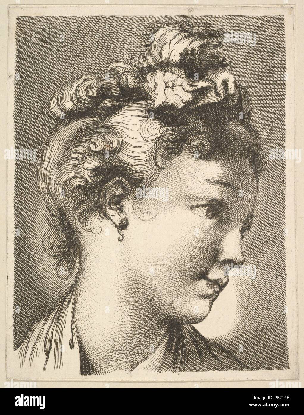 Head Of A Woman With Her Head Turned To The Left From Livre