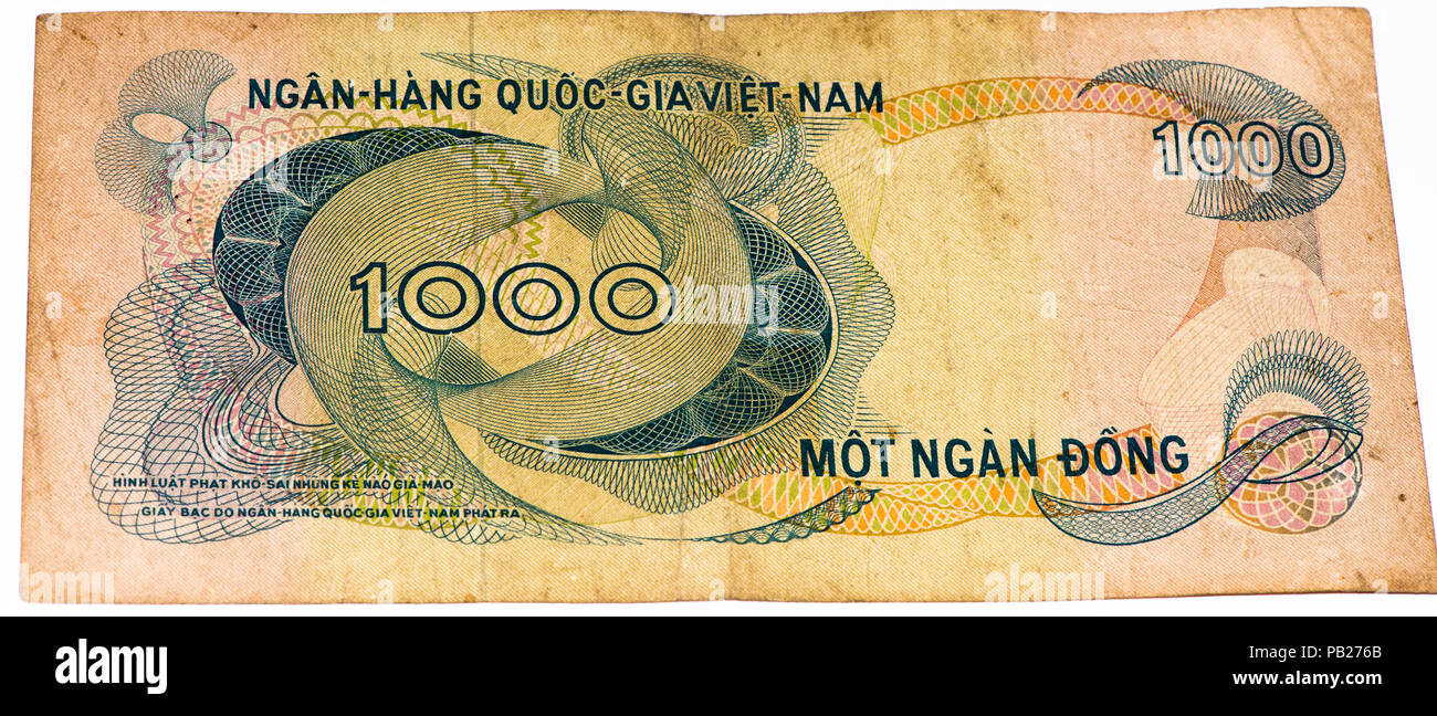 1000 Dong Bank Note Of South Vietnam Dong Is The National Currency Of Vietnam Stock Photo Alamy