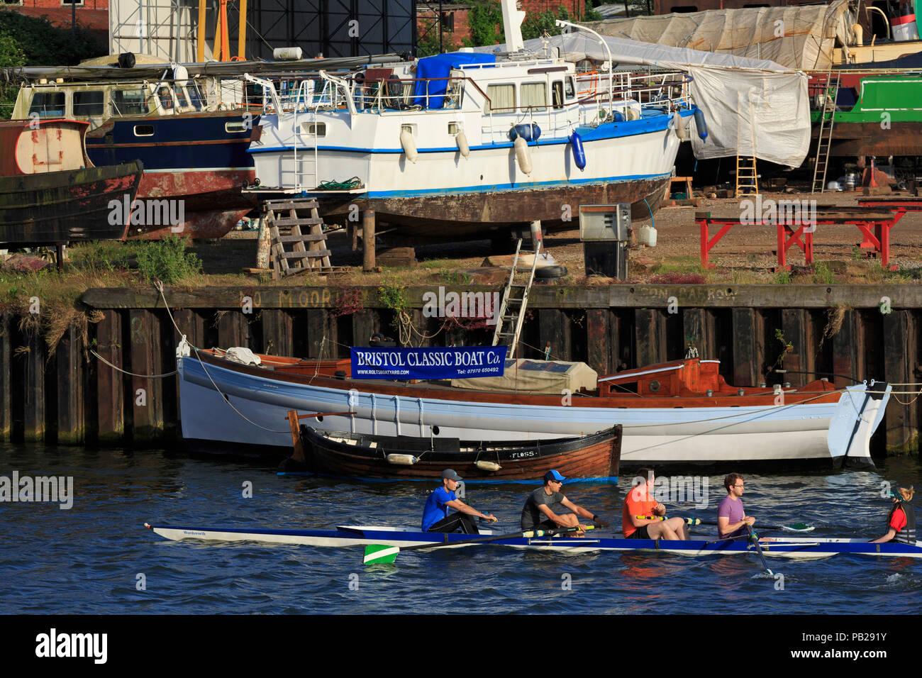 Rowers, Bristol City, Bristol County, England, United Kingdom - Stock Image