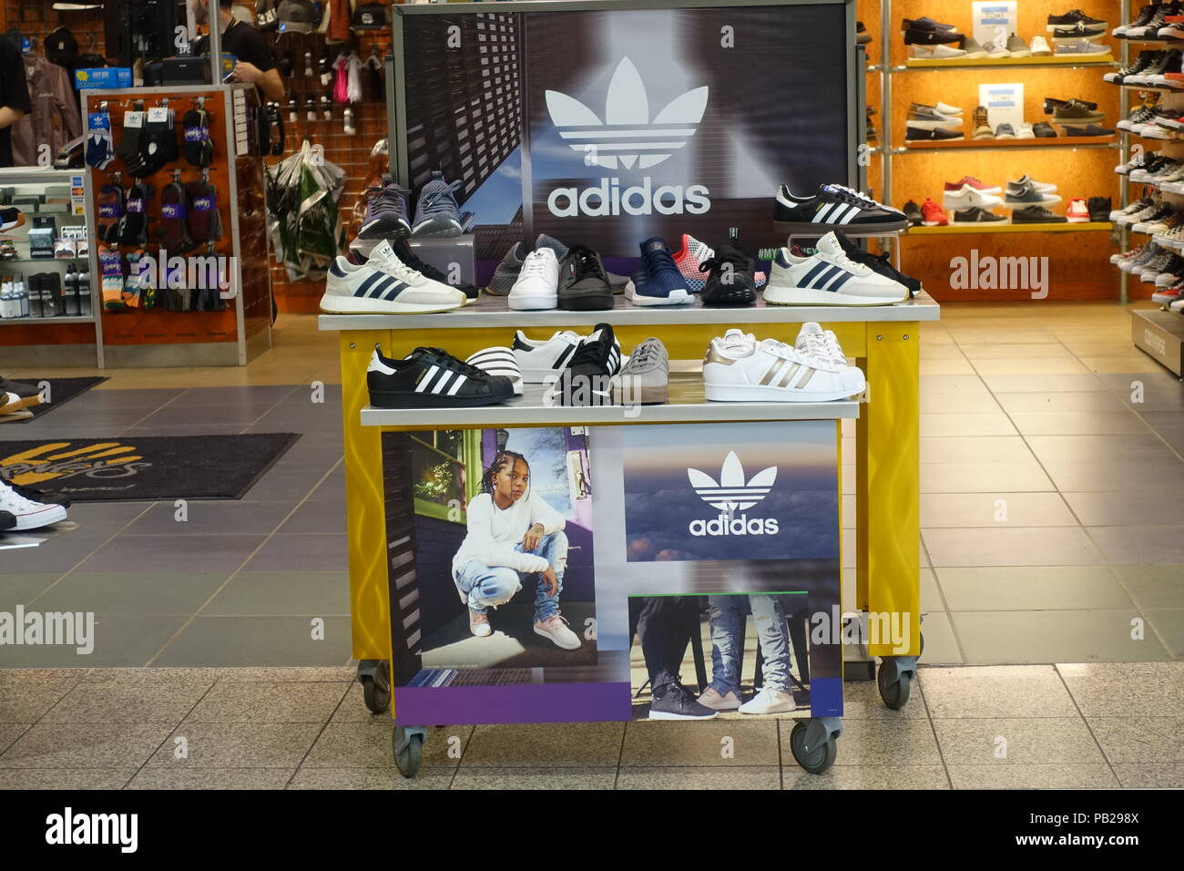 Adidas Shoes on display of one in the store Metrotown Burnaby 04f673345