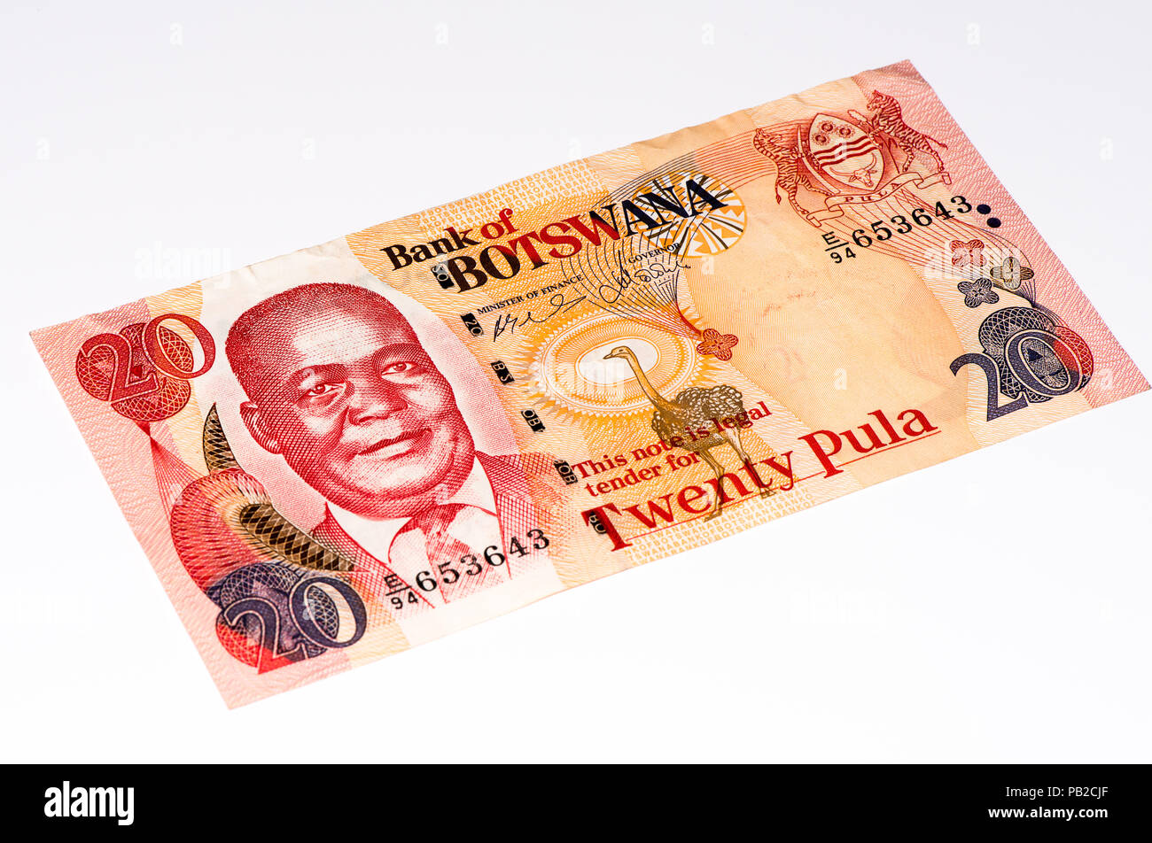 Pula Botswana Currency Stock Photos & Pula Botswana Currency