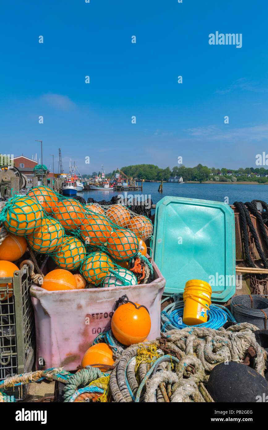 Fishing habour, Kappeln, Baltic Sea, mouth of Schlei Fjord, landscape of Angeln, Schleswig-Holstein, Germany, Europe Stock Photo