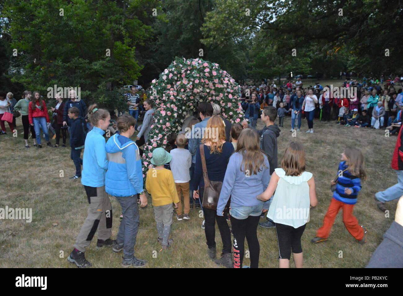 goerlitz saxony germany 2018:  viathea street theater festival photo matthias wehnert - Stock Image