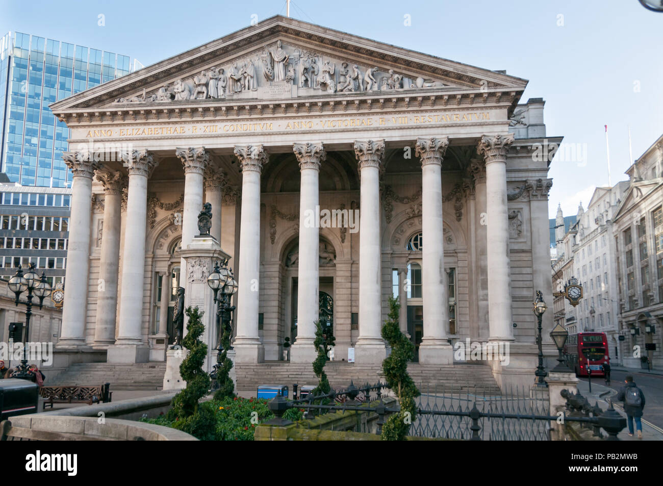 The Royal Exchange, London, United Kingdom - Stock Image
