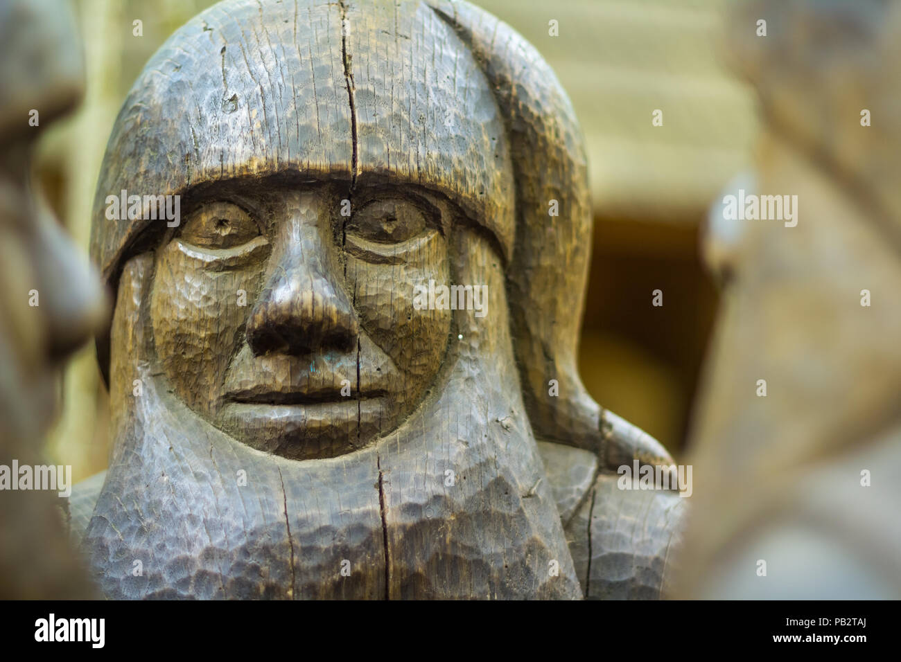 Wooden Dwarf Stock Photo