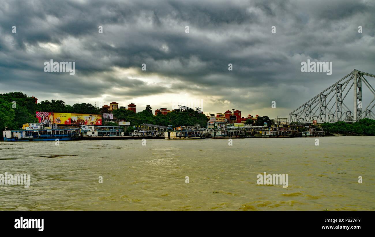 Kolkata Howrah Skyline - Stock Image