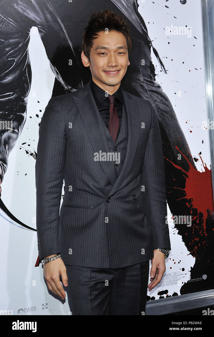 Rain Raizo   - NINJA ASSASSIN Premiere at GraumanÕs Chinese Theatre In Los Angeles.Rain Raizo_26 Red Carpet Event, Vertical, USA, Film Industry, Celebrities,  Photography, Bestof, Arts Culture and Entertainment, Topix Celebrities fashion /  Vertical, Best of, Event in Hollywood Life - California,  Red Carpet and backstage, USA, Film Industry, Celebrities,  movie celebrities, TV celebrities, Music celebrities, Photography, Bestof, Arts Culture and Entertainment,  Topix, vertical, one person,, from the years , 2006 to 2009, inquiry tsuni@Gamma-USA.com - Three Quarters - Stock Image