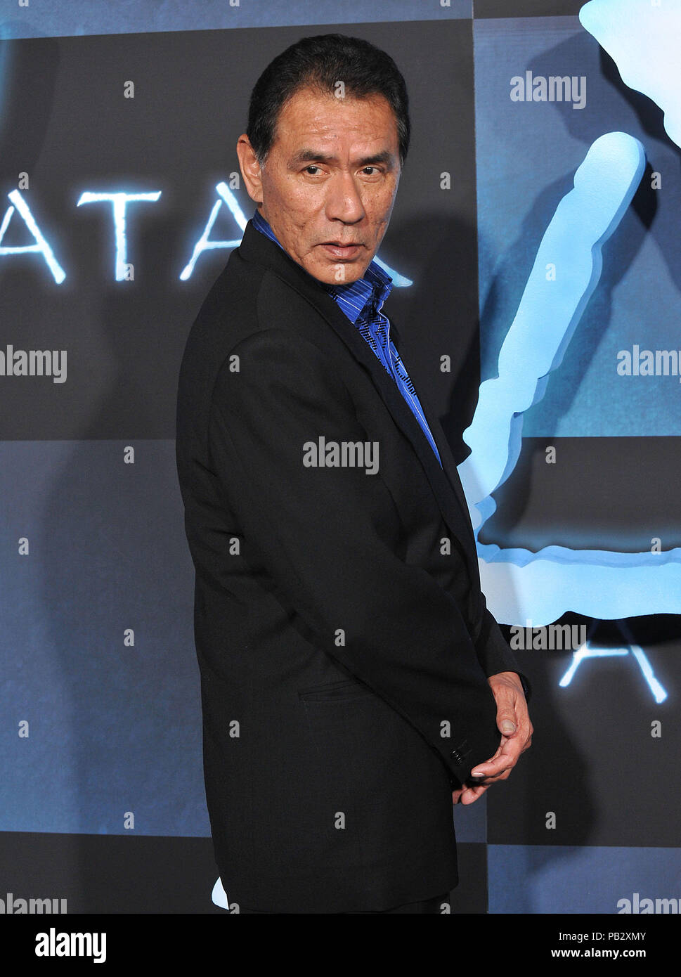 Wes Studi _82  - Avatar Los Angeles Premiere at the Chinese Theatre In Los Angeles.Wes Studi _82 Red Carpet Event, Vertical, USA, Film Industry, Celebrities,  Photography, Bestof, Arts Culture and Entertainment, Topix Celebrities fashion /  Vertical, Best of, Event in Hollywood Life - California,  Red Carpet and backstage, USA, Film Industry, Celebrities,  movie celebrities, TV celebrities, Music celebrities, Photography, Bestof, Arts Culture and Entertainment,  Topix, vertical, one person,, from the years , 2006 to 2009, inquiry tsuni@Gamma-USA.com - Three Quarters - Stock Image