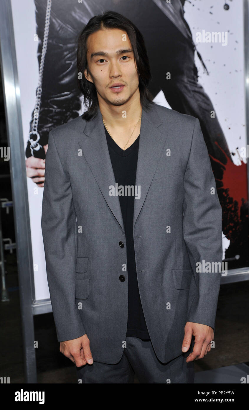 Karl Yune  - NINJA ASSASSIN Premiere at GraumanÕs Chinese Theatre In Los Angeles.YuneKarl_23 Red Carpet Event, Vertical, USA, Film Industry, Celebrities,  Photography, Bestof, Arts Culture and Entertainment, Topix Celebrities fashion /  Vertical, Best of, Event in Hollywood Life - California,  Red Carpet and backstage, USA, Film Industry, Celebrities,  movie celebrities, TV celebrities, Music celebrities, Photography, Bestof, Arts Culture and Entertainment,  Topix, vertical, one person,, from the years , 2006 to 2009, inquiry tsuni@Gamma-USA.com - Three Quarters - Stock Image