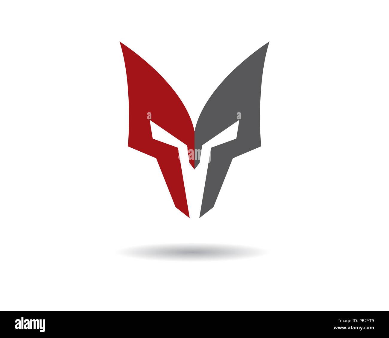 spartan helmet logo template vector icon stock photo 213351385 alamy