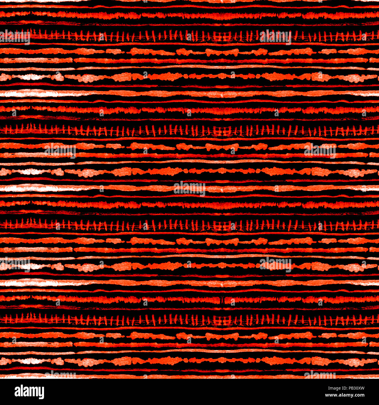 Seamless watercolour shibori tie-dye pattern of red color on