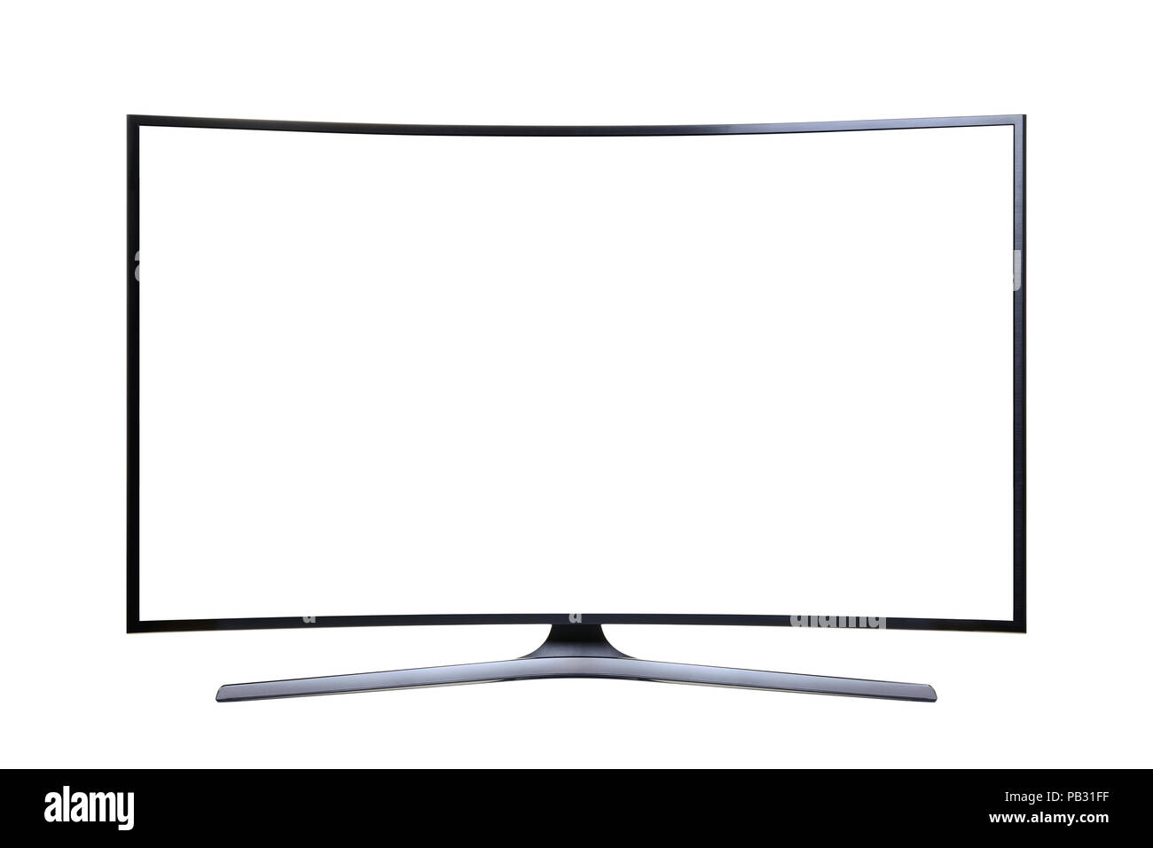 Ultra HD Television with a Blank Screen, Cut Out - Stock Image