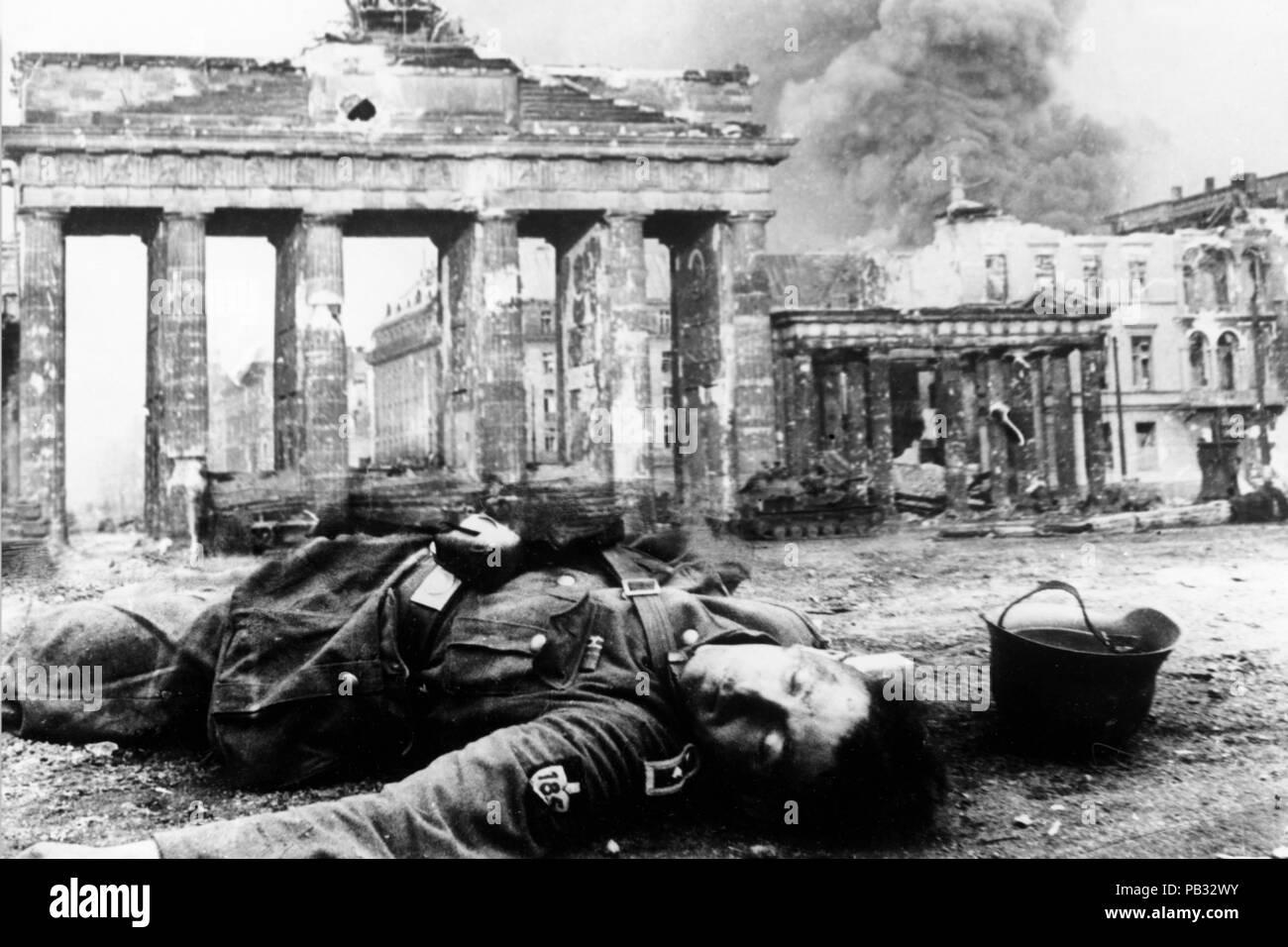 II world war, berlin, german soldier died - Stock Image