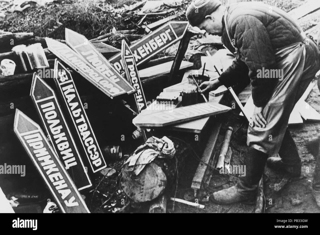 II world war, russian soldier - Stock Image