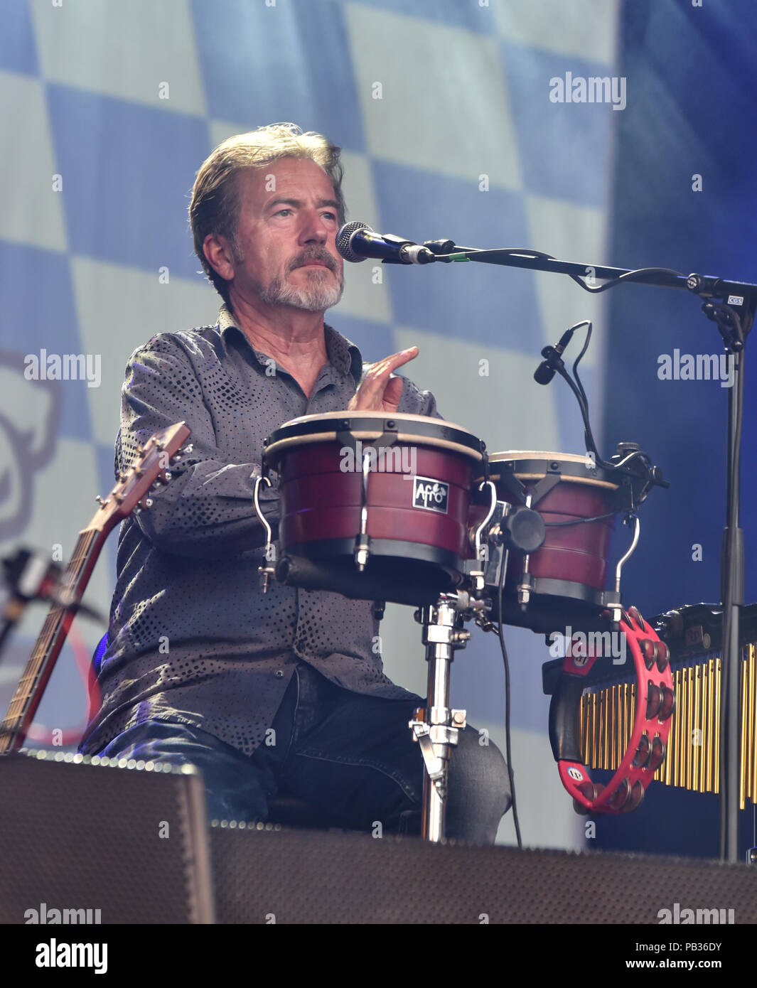 Germany, Ebern, Eyrichshhof Castle , 25 July 2018, SPIDER MURPHY GANG - UNPLUGGED - Open Air 2018 - Image: Dieter Radig - Bongos Credit: Ryan Evans/Alamy Live News - Stock Image