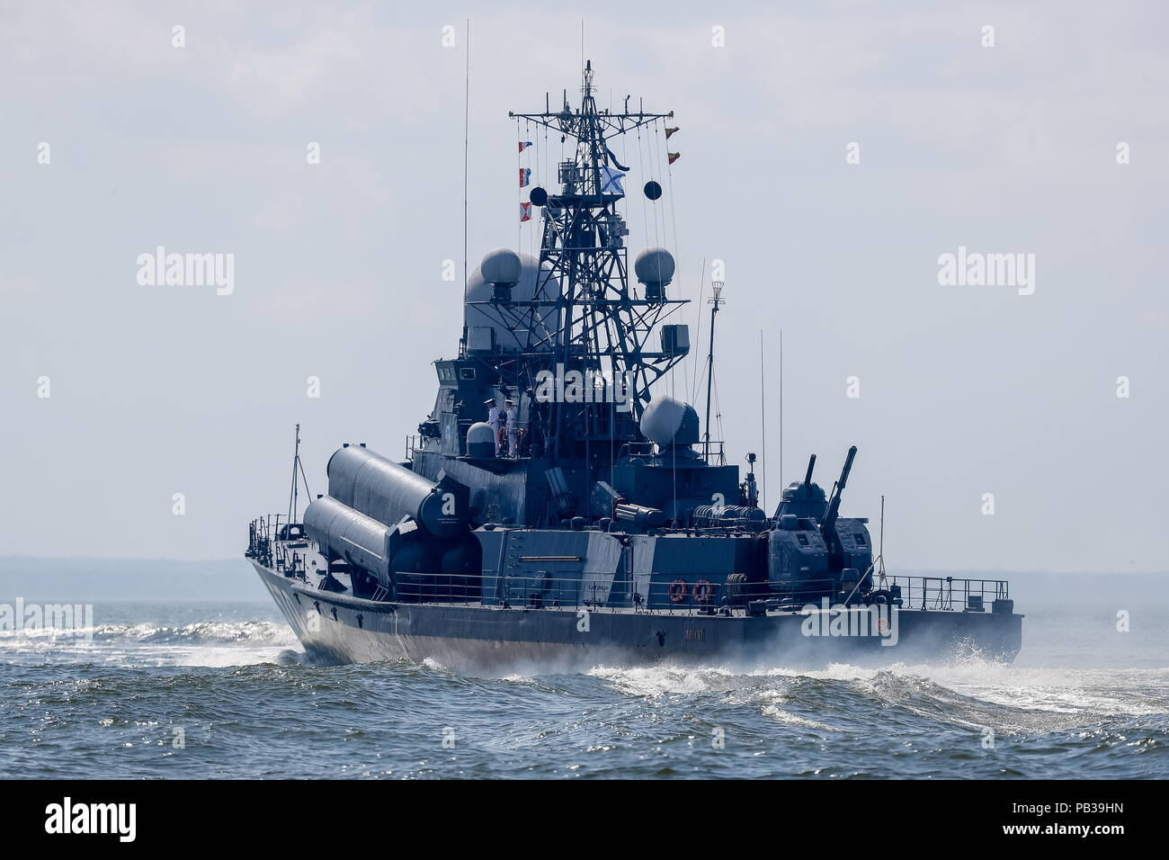 Laid a small missile ship &quot