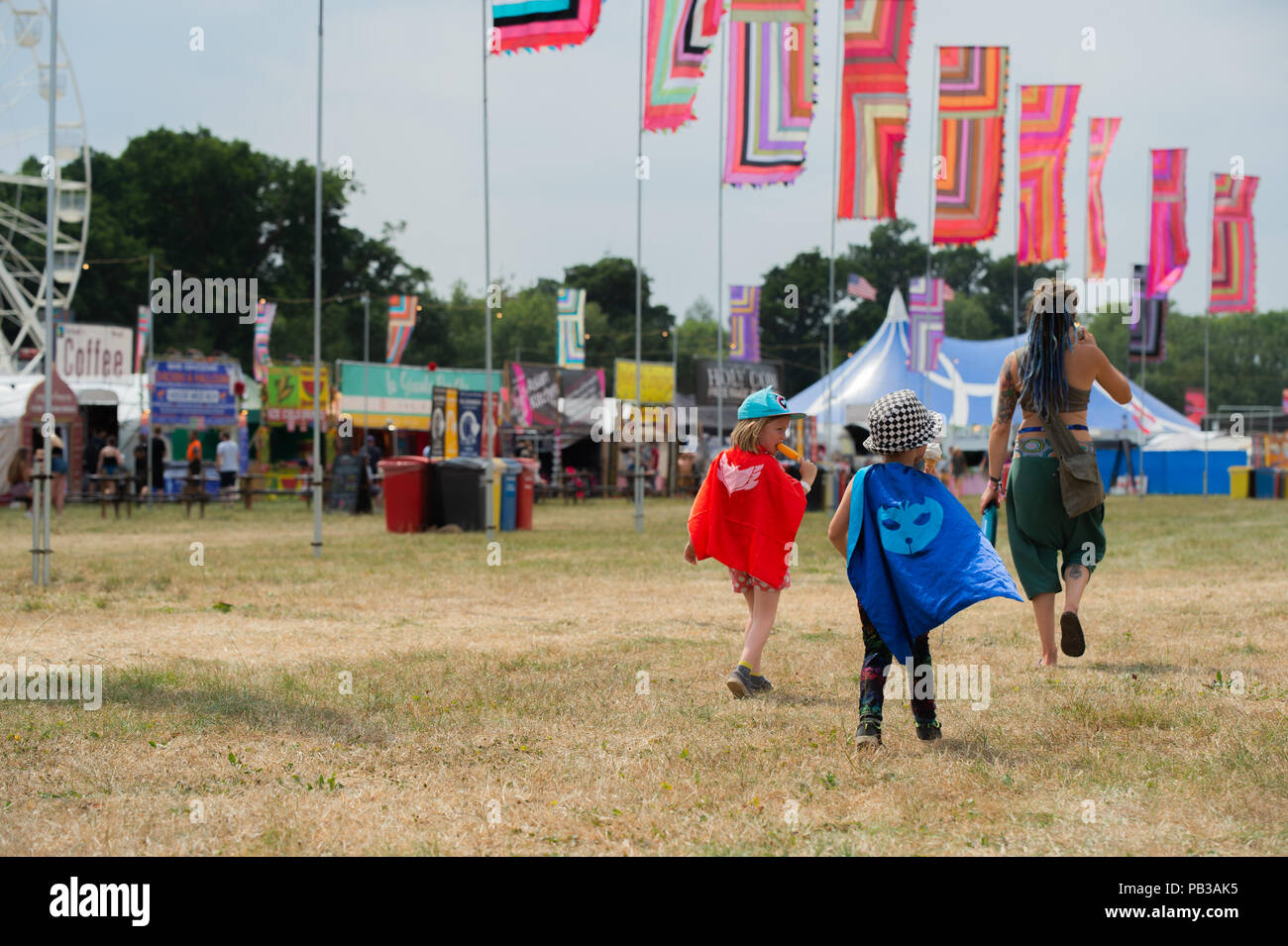WOMAD Festival , UK,  26th, July, 2018, Around the festival site, Credit: Guy Peterson/Alamy Live news - Stock Image