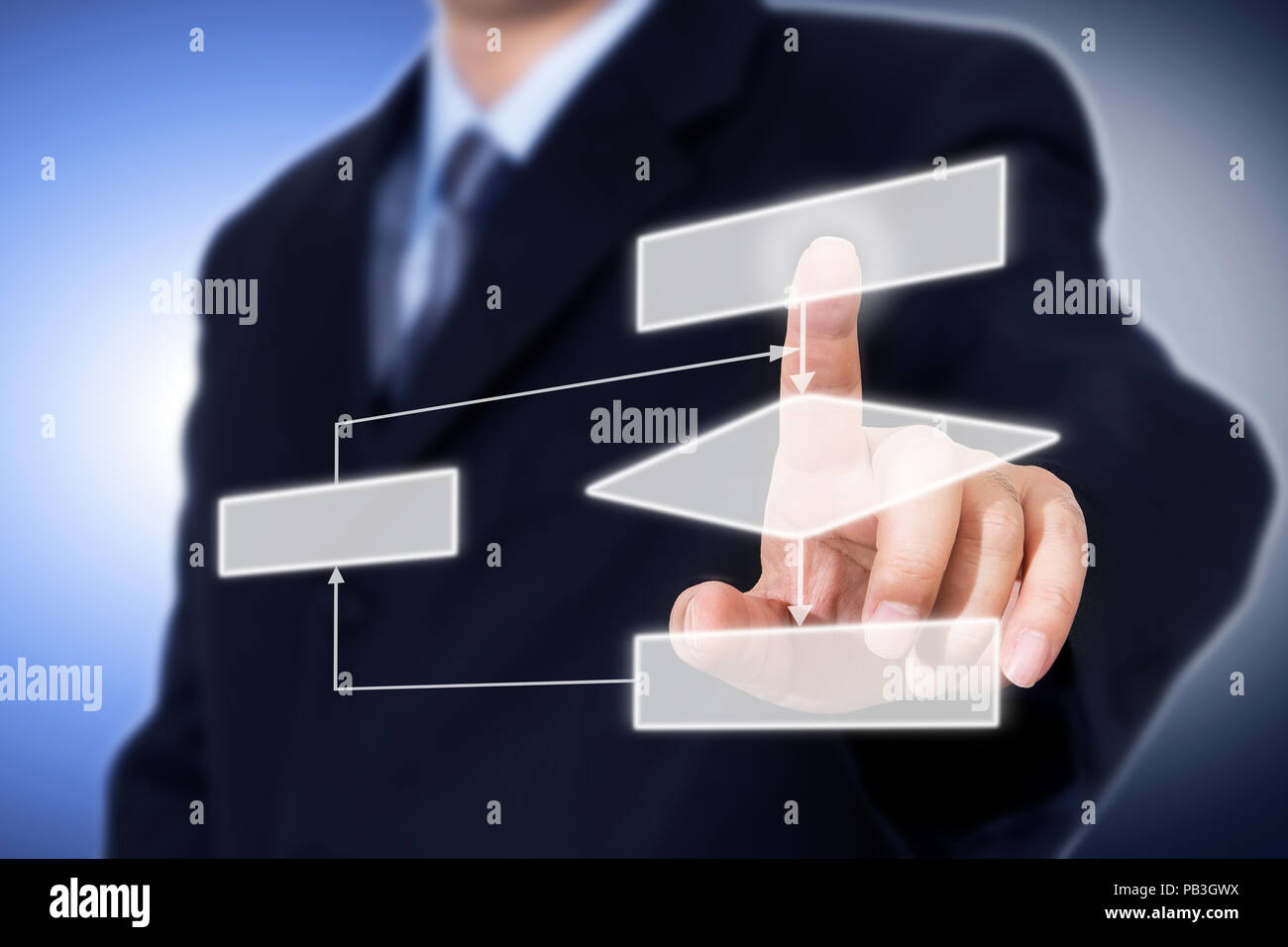 Business process concept. - Stock Image