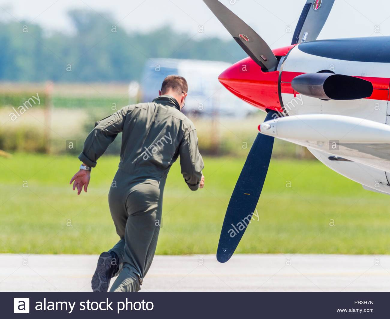 Krila oluje aerobatic group from Croatia almost scrambling towards aircraftStock Photo
