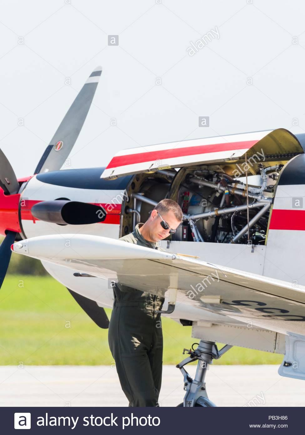 Krila oluje aerobatic group from Croatia Stock Photo